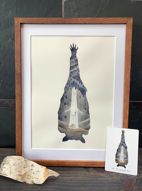 The Hanged Man - Original Framed Watercolor Painting