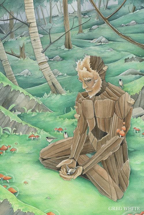 Mourning - Original Framed Watercolor