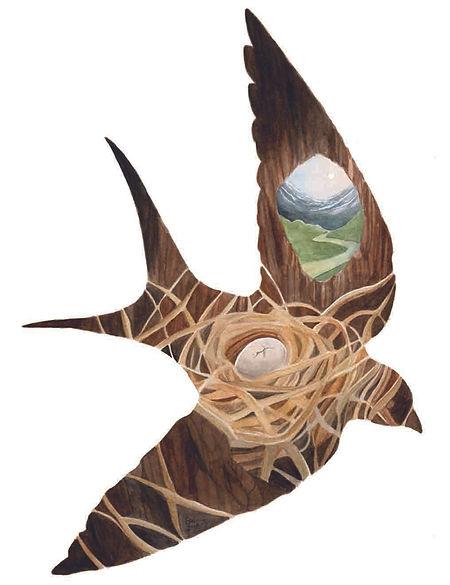 WilderWoven-Tarot-Bird-Painting