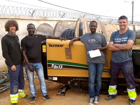 Première machine HDD de Vermeer mis en service en Côte d'Ivoire