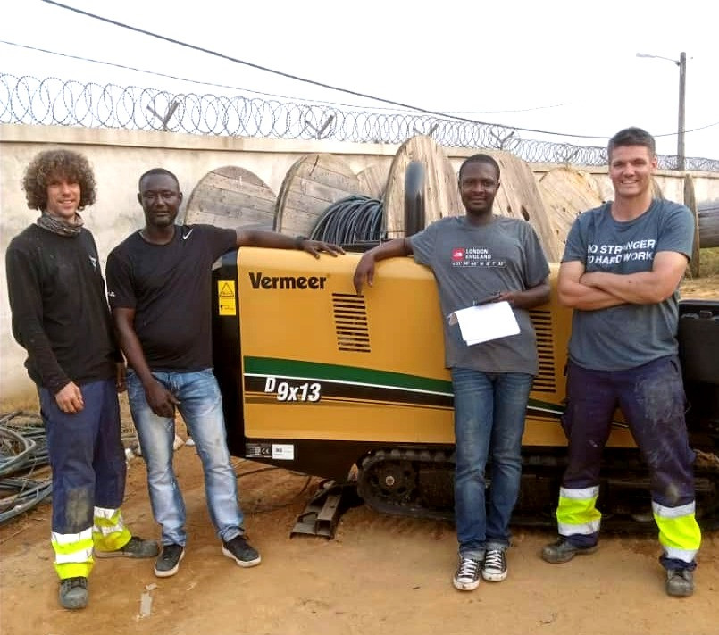Vermeer HDD machine in Ivory Coast