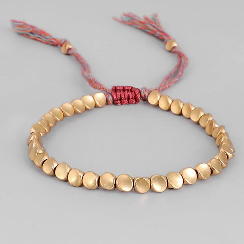 Tibetan Copper Bead Bracelet