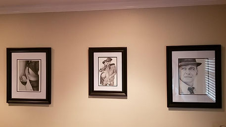 3 prints of some of my originals hanging all nice and pretty inthe collectos Home