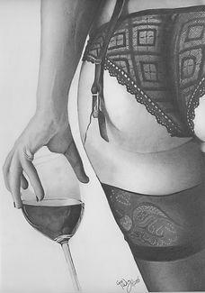 Wine Time  MLGlenn Fine Art