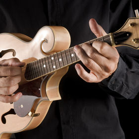 bluegrass musician playing a mandolin.jp