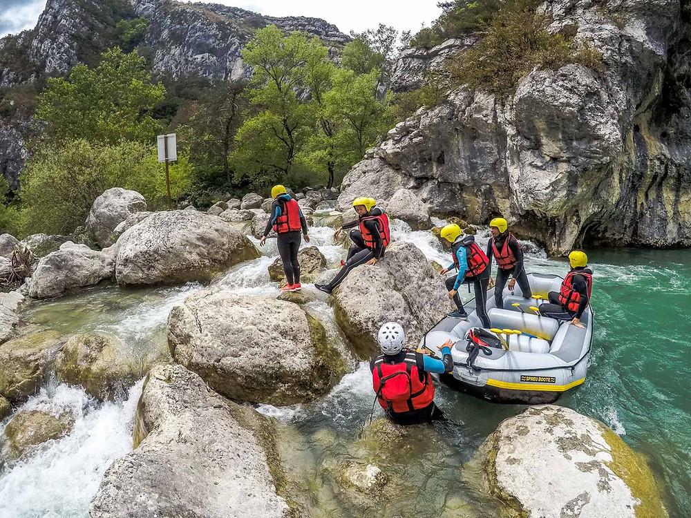 Rafting dans le Verdon