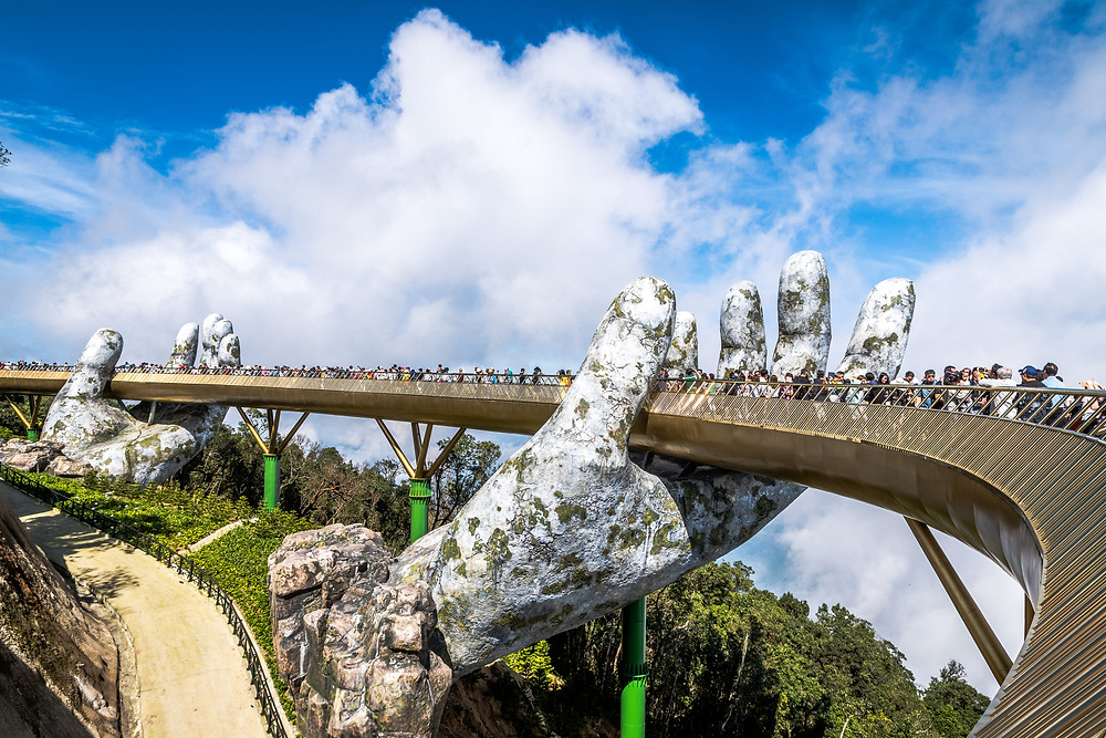 Golden Bridge de Ba Na, incontournable au Vietnam