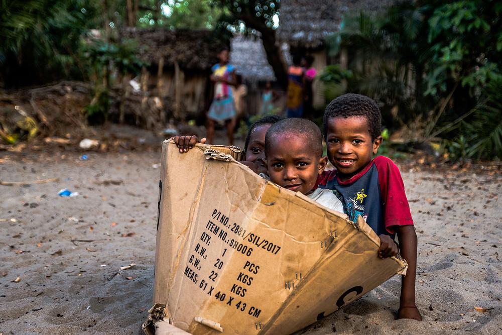 Village Andranokoditra, Madagascar