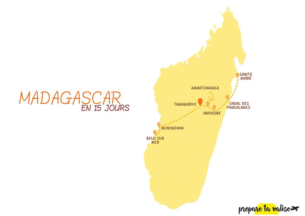 Itinéraire de 2 semaines à Madagascar