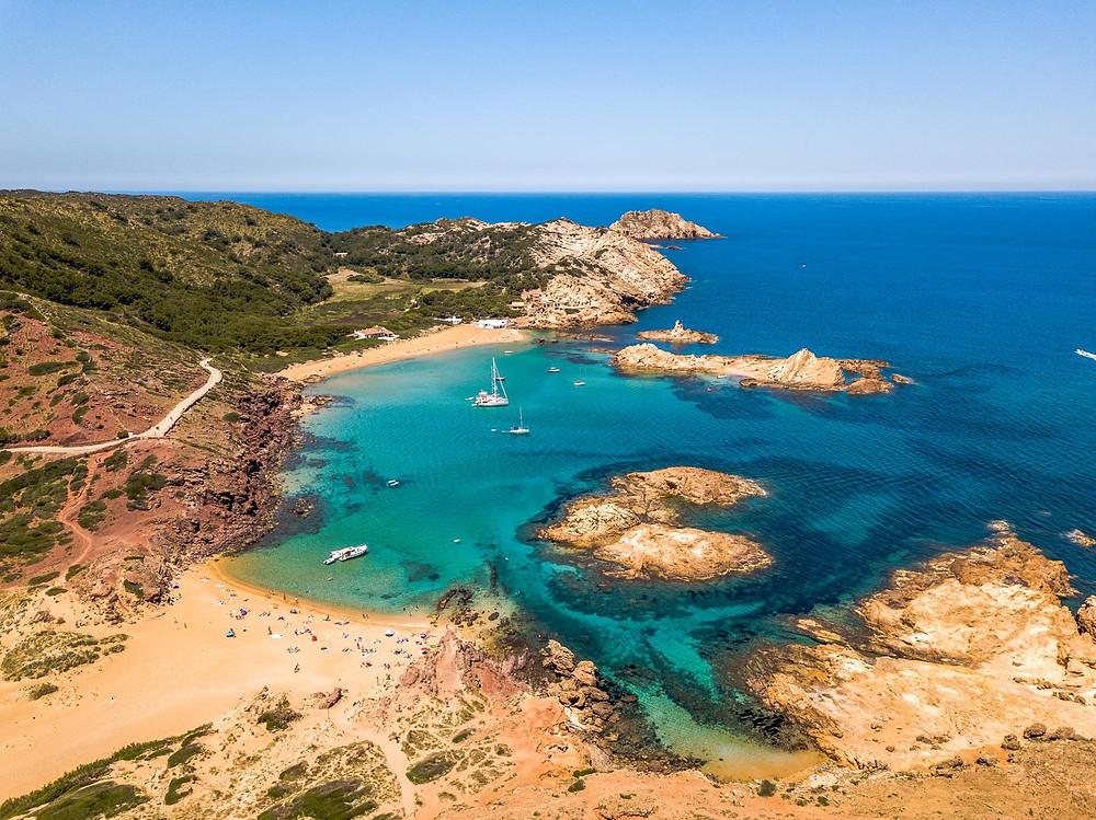Cala Pregonda Minorque iles baléares Espagne