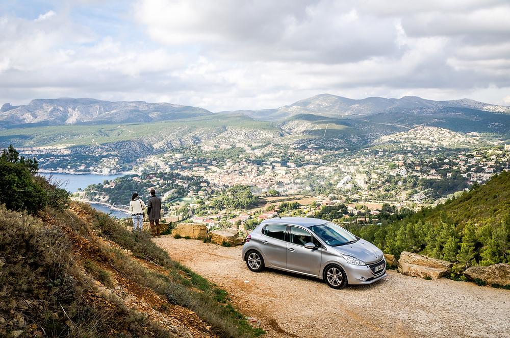 Drivy, Peugeot 208, Cap Canaille, Route des Crêtes, Cassis, La Ciotat