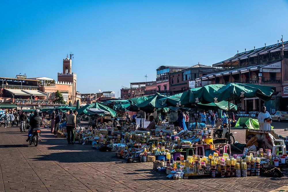 La place Jemaa El Fna Marrakech