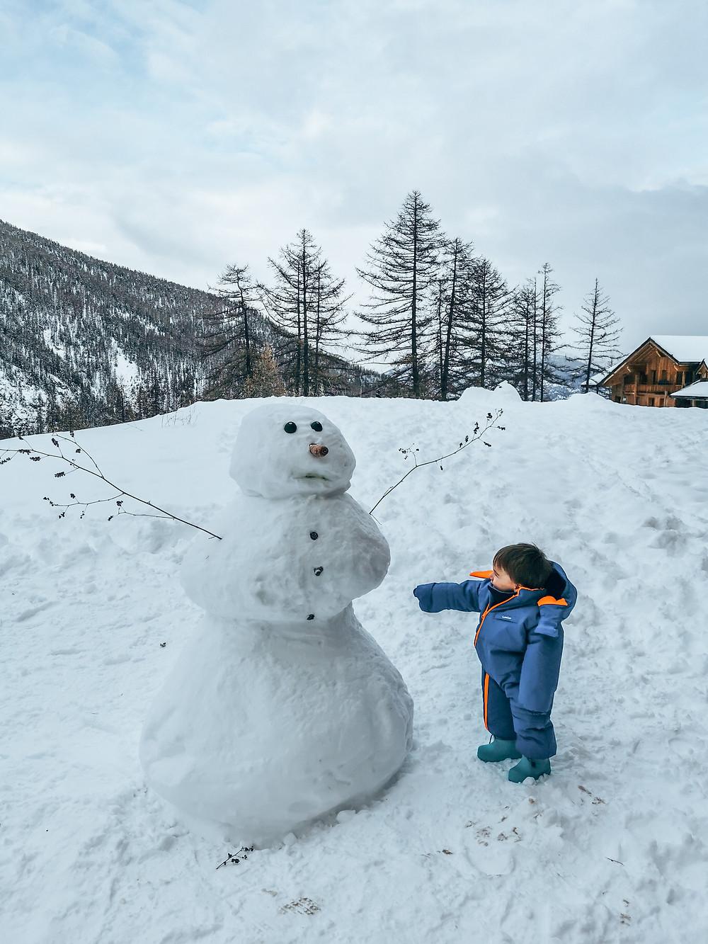 Activités neige bébé