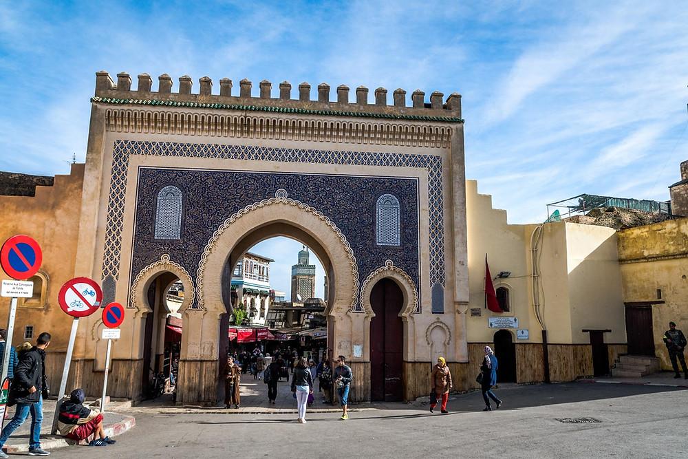Porte Bleue Bab Boujloud Médina de Fès