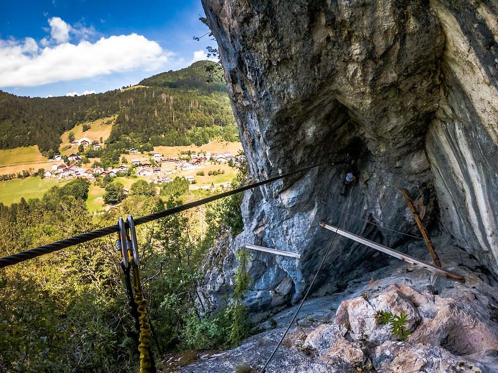 Via Ferrata à la cascade des Nants
