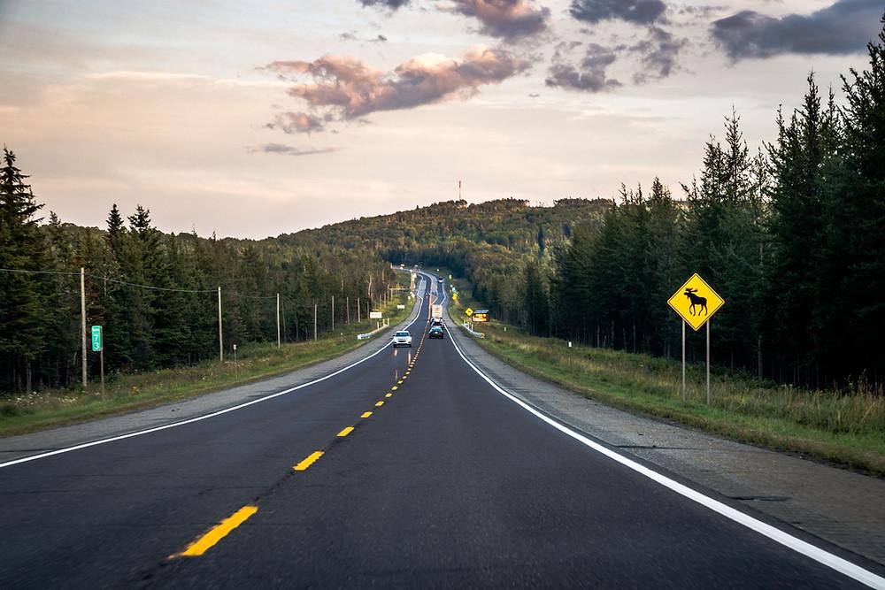 Route Panneaux Canada