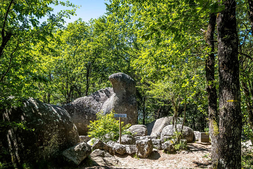 Parc de Sidobre Rocher de granit Tarn