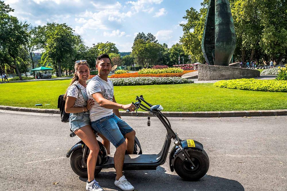Ile Marguerite moto électrique Budapest