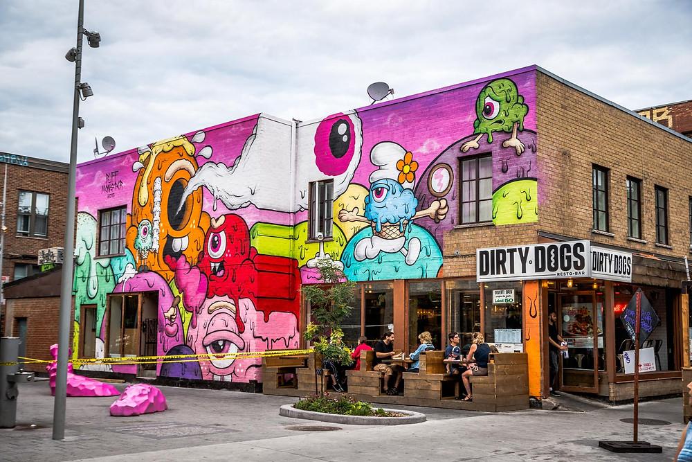 Murales graffitis Montreal