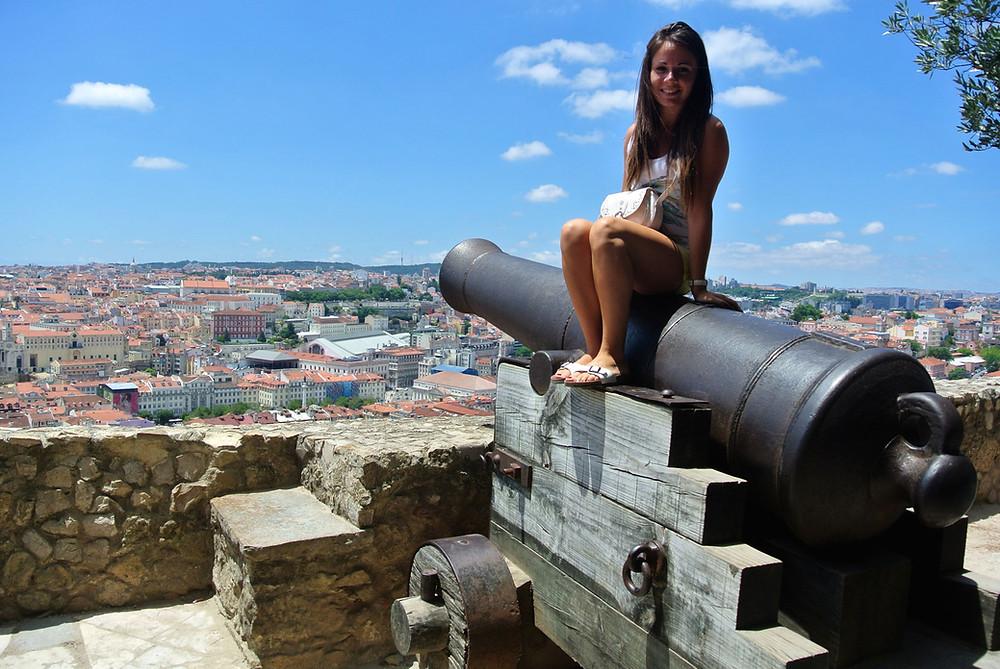 Castello Sao Jorge Lisboa Lisbon Lisbonne