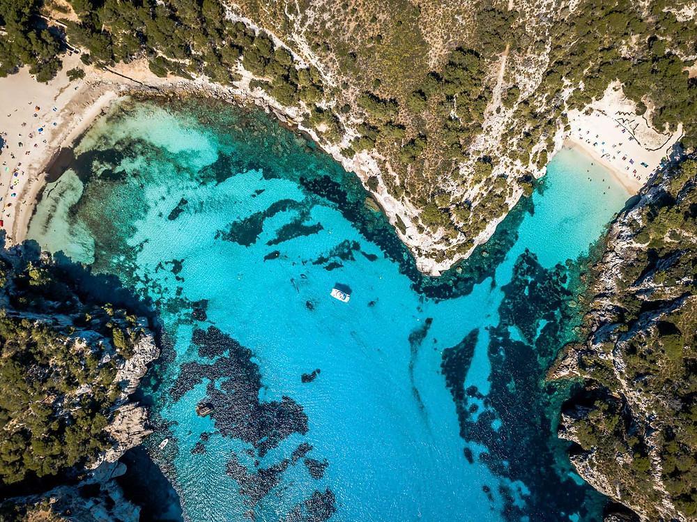 Cala de Macarella Minorque iles baléares Espagne