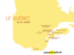 Itinéraire Quebec Canada