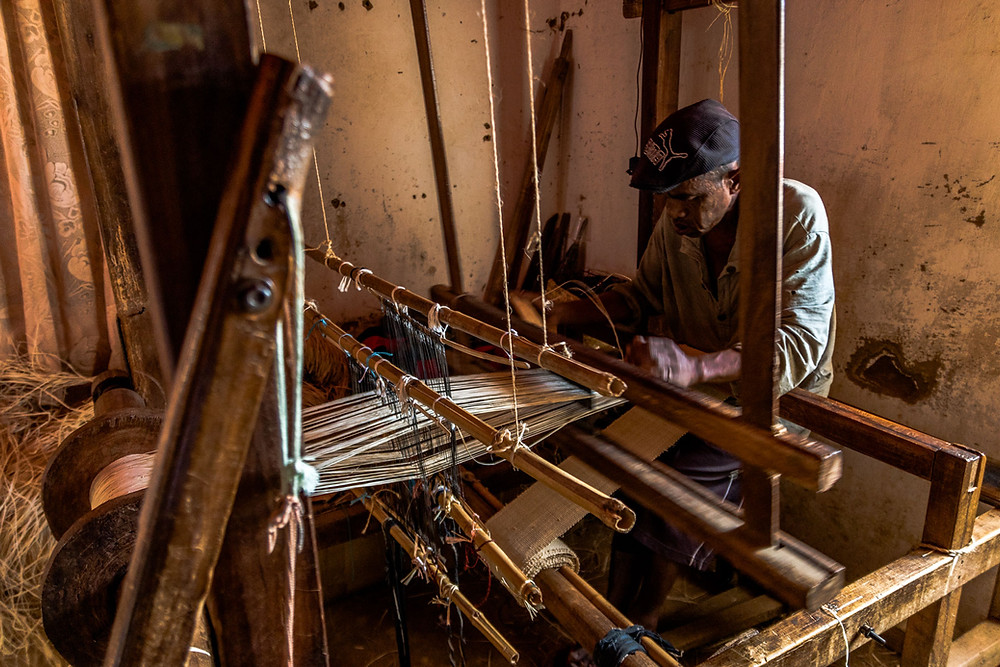 Atelier de tissage Ambatomanga Madagascar