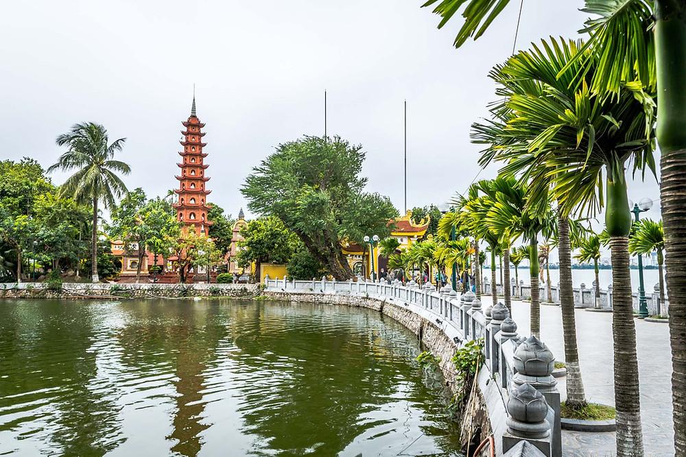 La Pagode Tran Quoc, Hanoi, capital du Vietnam
