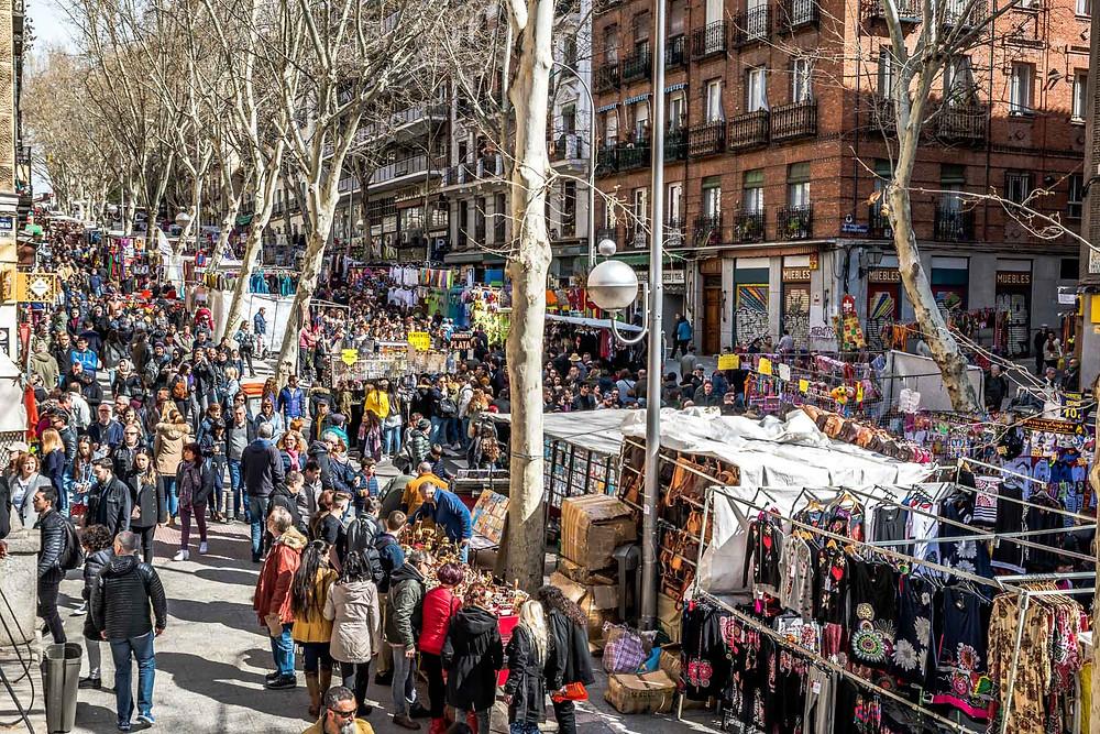 Marché aux puces El Rastro, Madrid
