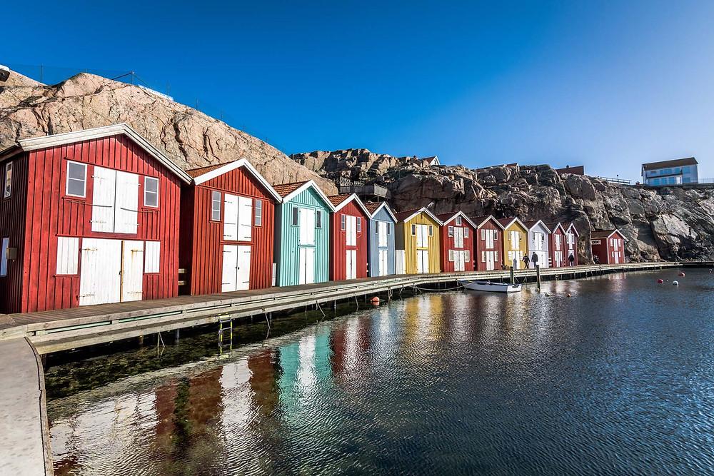 Maison colorée Smogen Suède