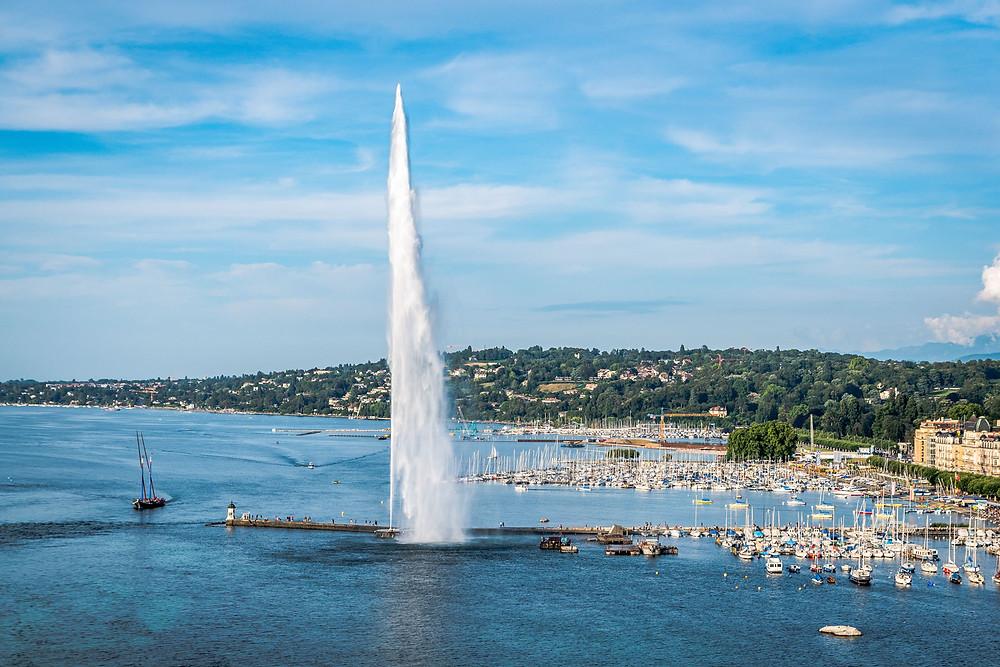 Jet d'eau, Genève, Suisse