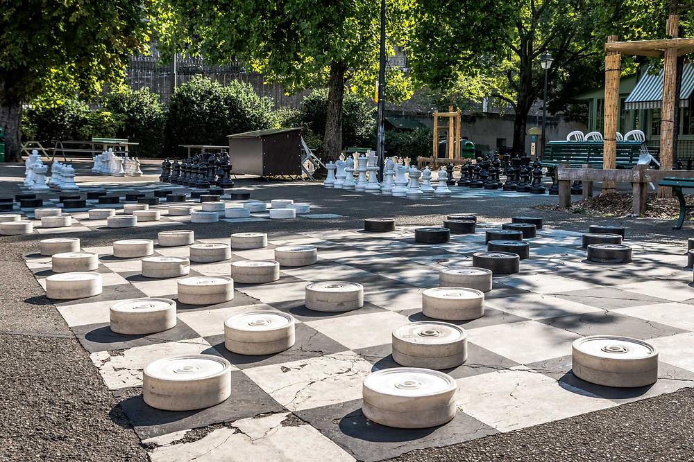 Jeux d'échecs, Parc des Bastions, Genève