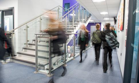 busy school corridor