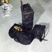 equipment cases ready for location photoshoot