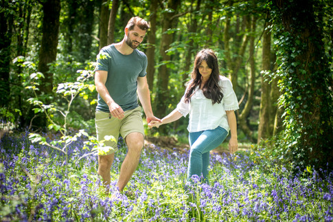 holiday park photography of couple in the woods