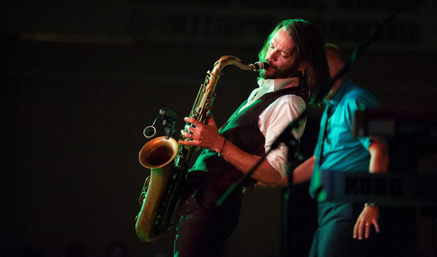 saxaphone player on stage