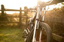 mountain bike on hiliday