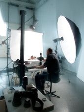 photographer at work in studio