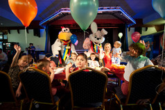 childrens tea party at holiday park