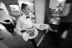 busy restaurant service