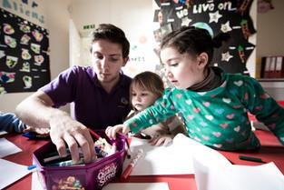 teacher and children at school