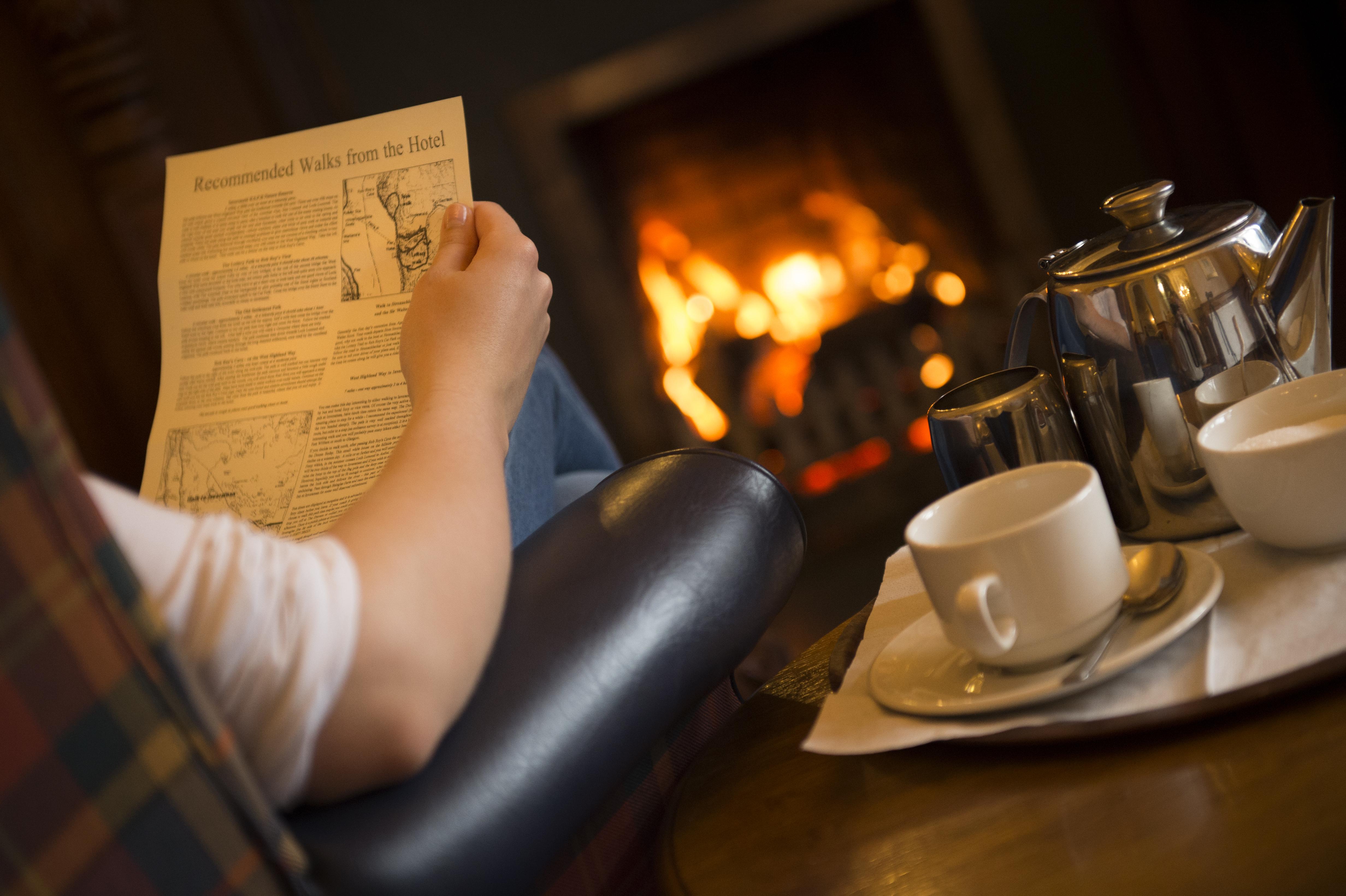 Fireside reading