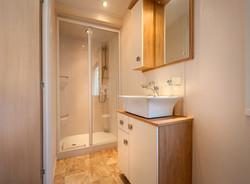Modern lodge bathroom