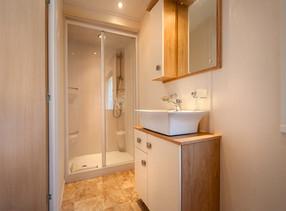 luxury caravan bathroom