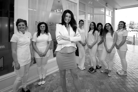 beauty salon team