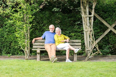 holiday park photography of couple relaxing