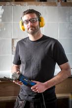 plumber in workshop