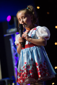 young girl in talent competition