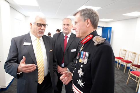 high sheriff of devon meets company reprasentatives
