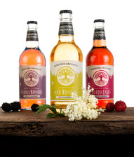 cider bottle product photography